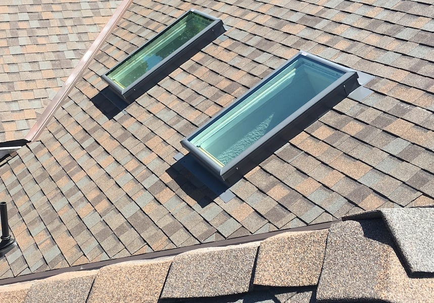 Velux Curb Mounted Skylights Valley Roofing