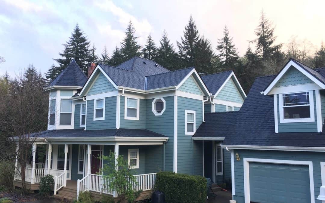 Valley Roofing did this Unique home with many Peaks Salem, Oregon